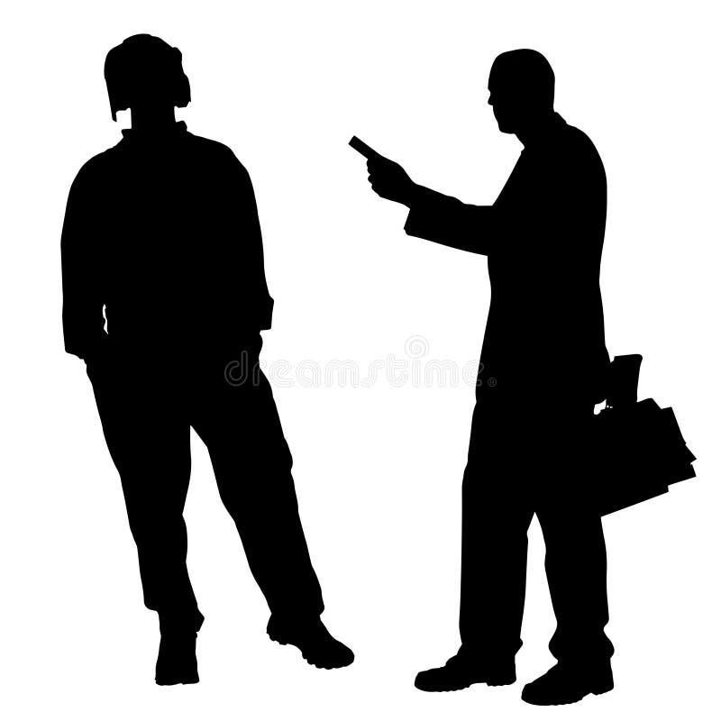 Download Vektorschattenbild Von Paaren Vektor Abbildung - Illustration von weiß, person: 47100824