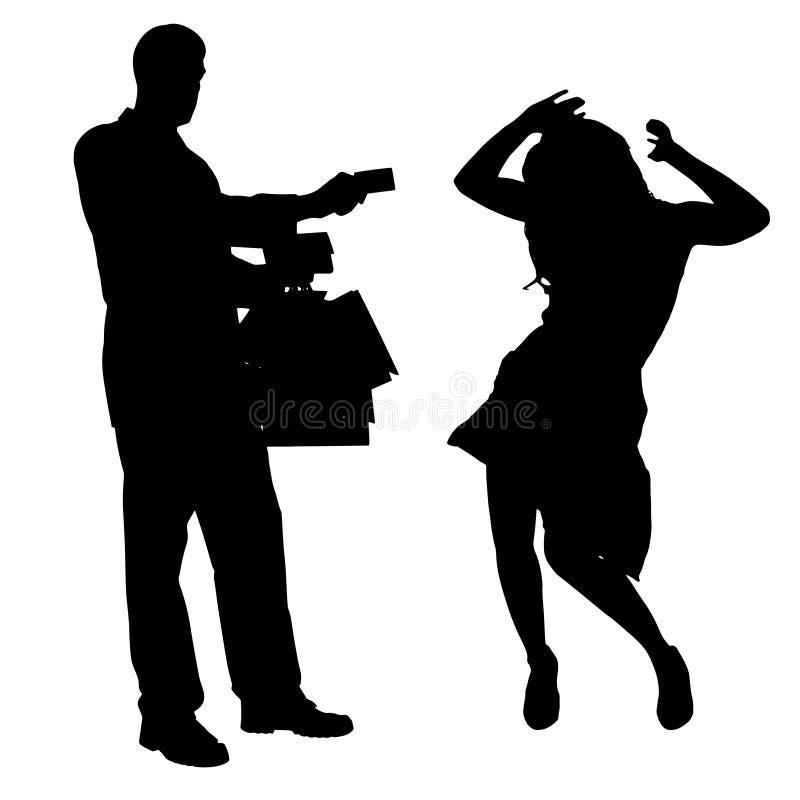 Download Vektorschattenbild Von Paaren Vektor Abbildung - Illustration von schwarzes, stadt: 47100841