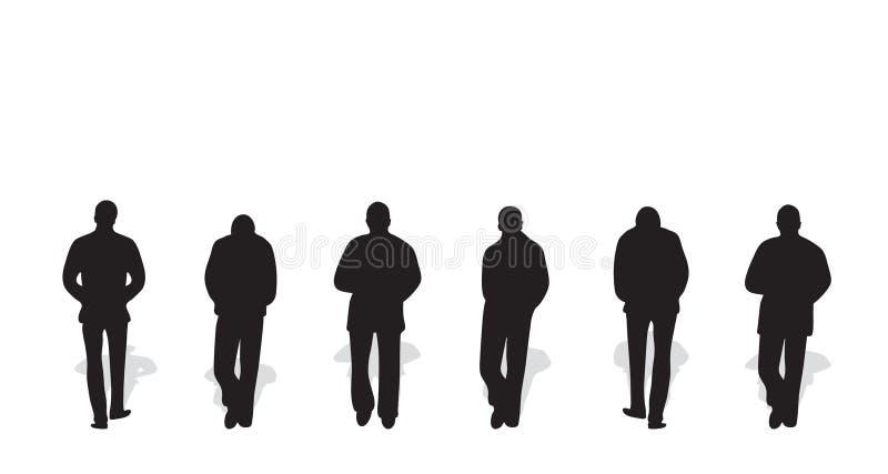 Vektorschattenbilder der Männer vektor abbildung