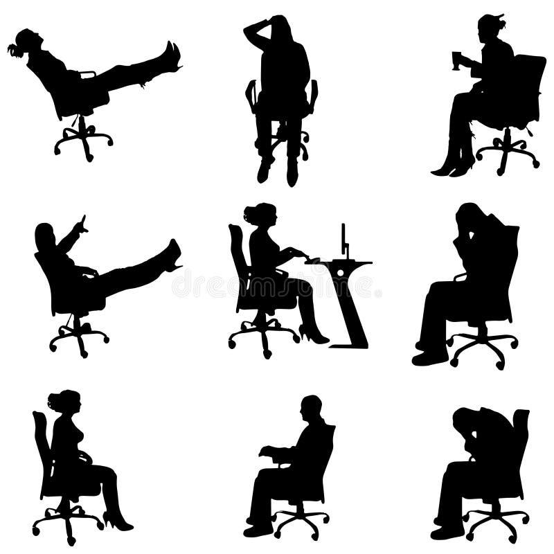 Download Vektorschattenbilder Von Leuten Vektor Abbildung - Illustration von firma, getrennt: 47100601