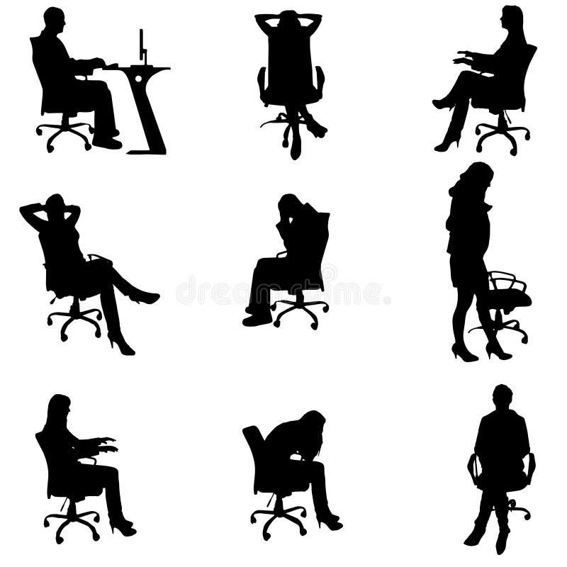 Download Vektorschattenbilder Von Leuten Vektor Abbildung - Illustration von geschäft, firma: 47100602