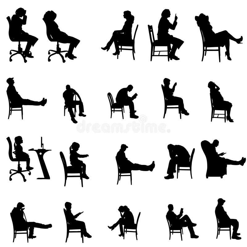 Download Vektorschattenbilder Von Leuten Vektor Abbildung - Illustration von person, frau: 47100930