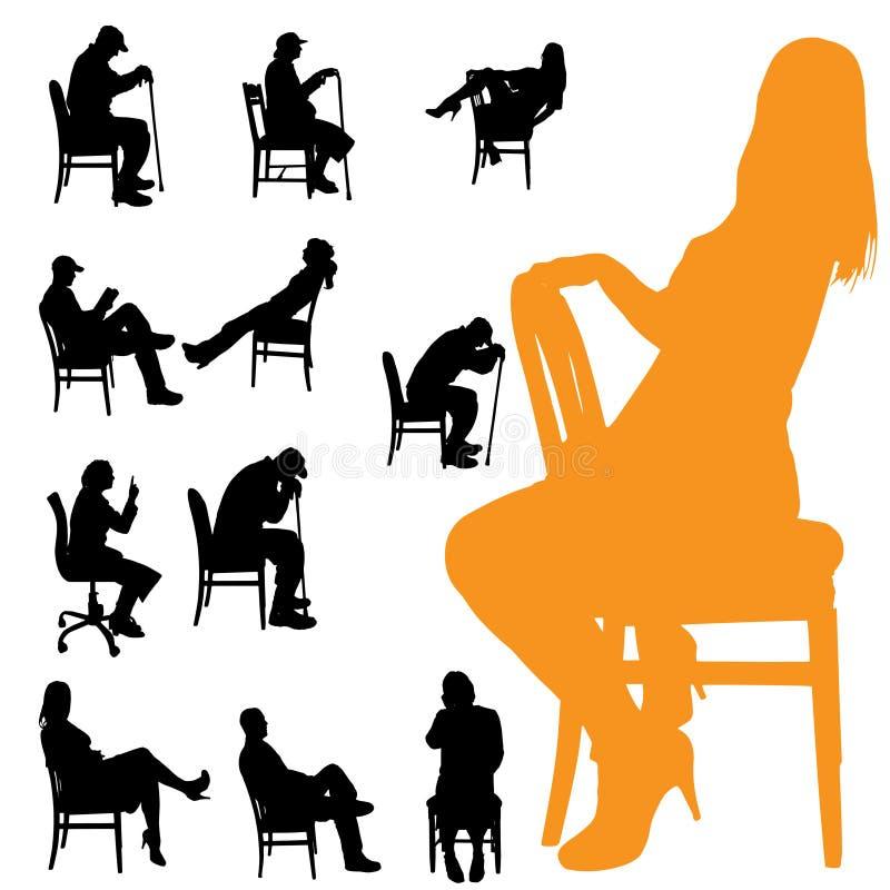 Download Vektorschattenbilder Von Leuten Vektor Abbildung - Illustration von mädchen, behindert: 47100952