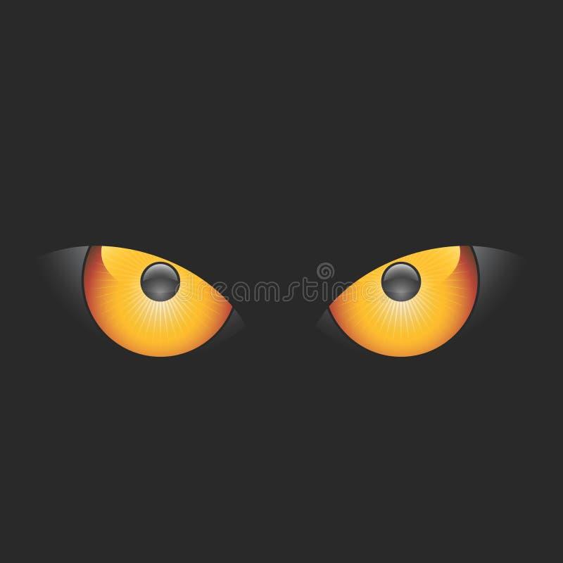 Vektorschlechte Augen lizenzfreie abbildung