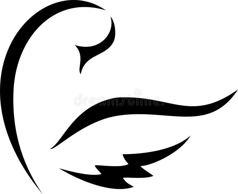 Vektorschwan stock abbildung