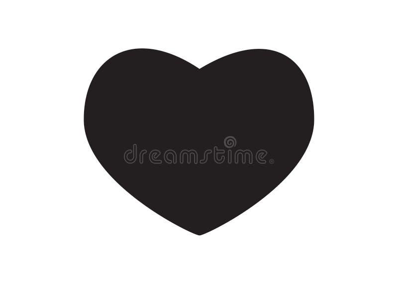Vektorschwarzes Herz-Formrahmen mit der Bürstenmalerei lokalisiert auf weißem Hintergrund lizenzfreie abbildung