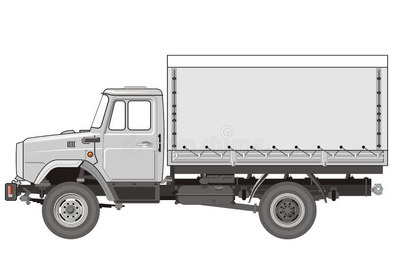 Vektorschwerer LKW stock abbildung