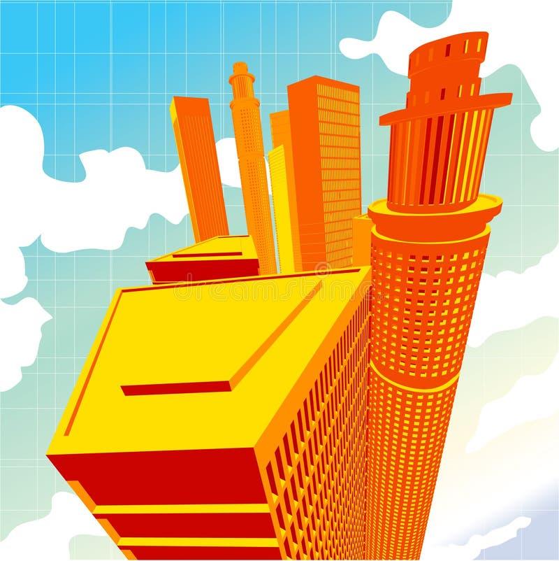 vektorsektor der Stadt-3D lizenzfreie abbildung
