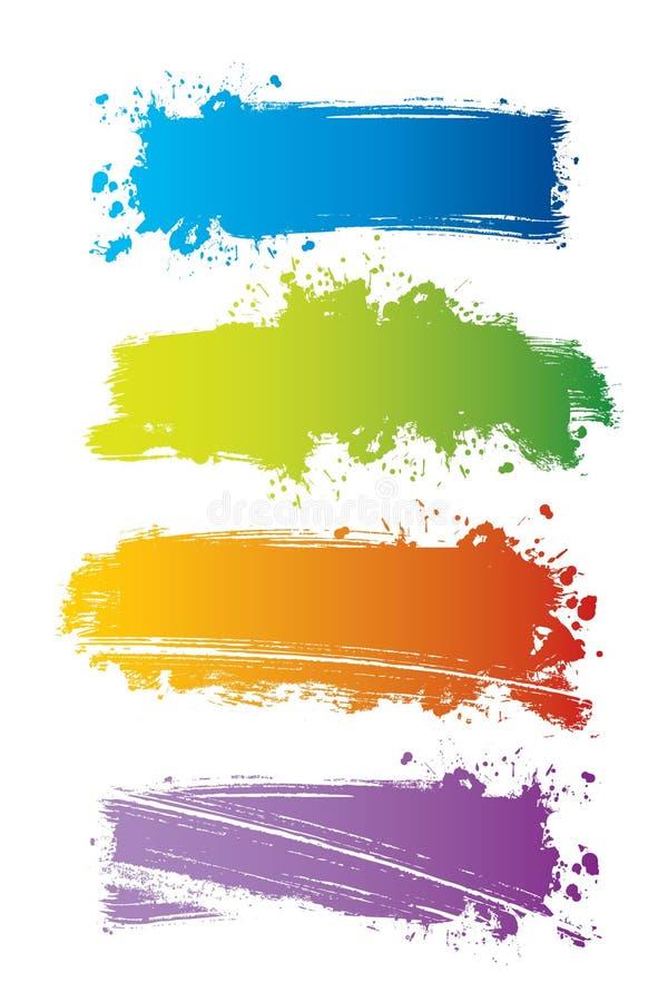 Vektorset Farbenfahnen stockbild