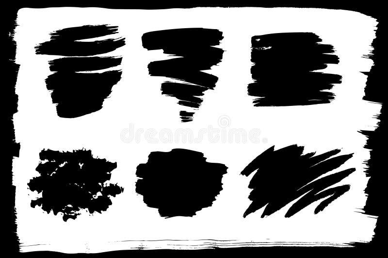Vektorset Verschiedene Tintenanschläge Stockfotos