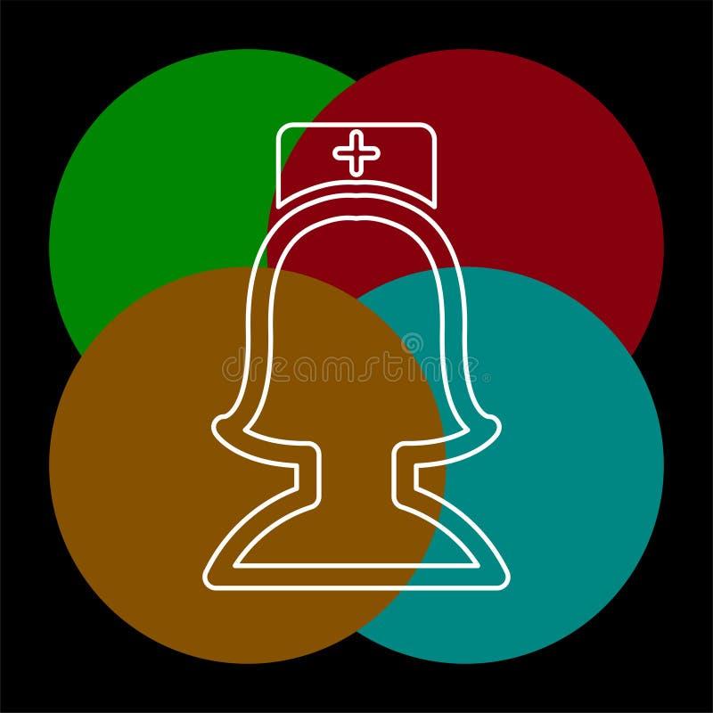 Vektorsjuksk?terskaillustration - medicinsk symbol vektor illustrationer