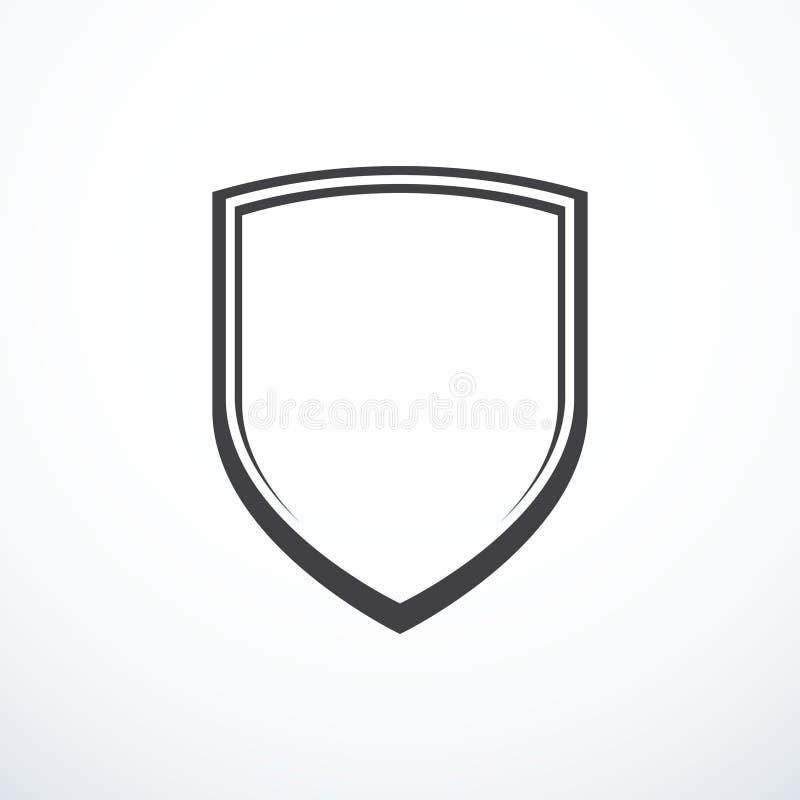 Vektorsköldsymbol arkivfoton
