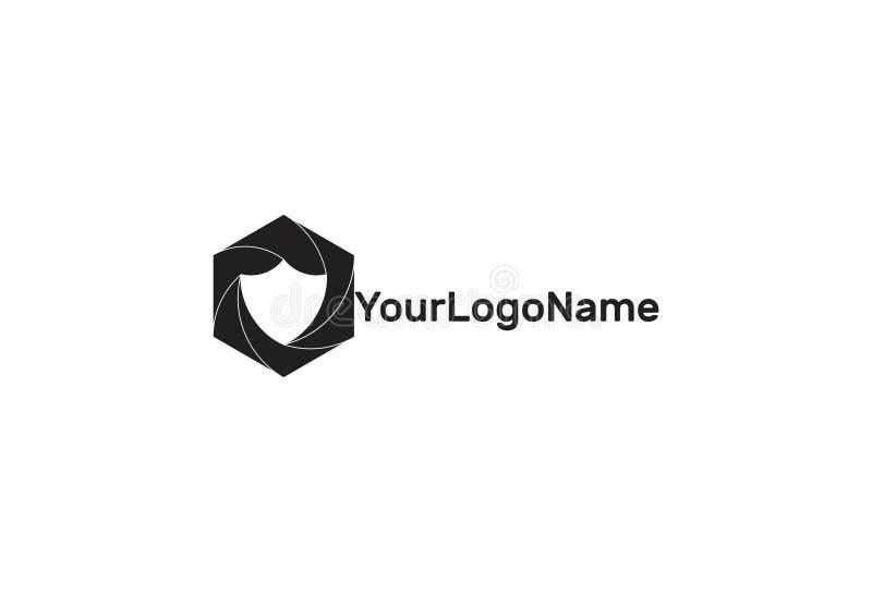 Vektorsköldsymbol Logo Design vektor illustrationer