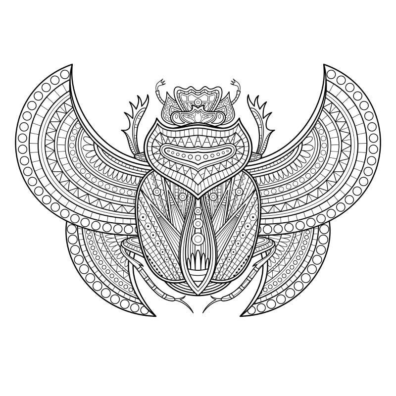 Vektorskarabé royaltyfri illustrationer