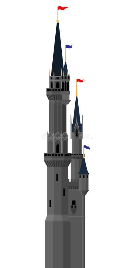 Vektorslotttorn royaltyfri illustrationer