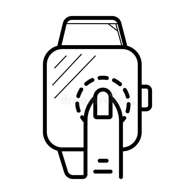 Vektorsmartwatchsymbol royaltyfri illustrationer