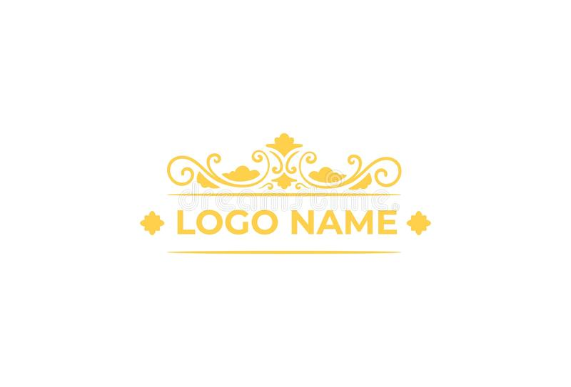 Vektorsmycken Logo Design stock illustrationer