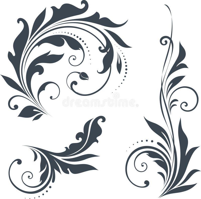 Vektorsnirkeluppsättning royaltyfri illustrationer