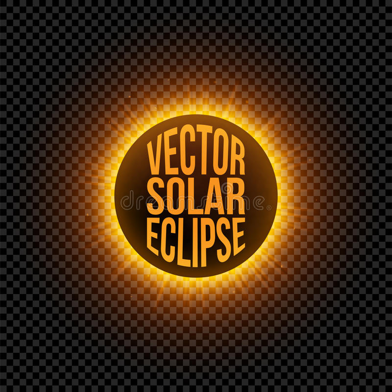 Vektorsonnenfinsternis-Grafik Element vektor abbildung