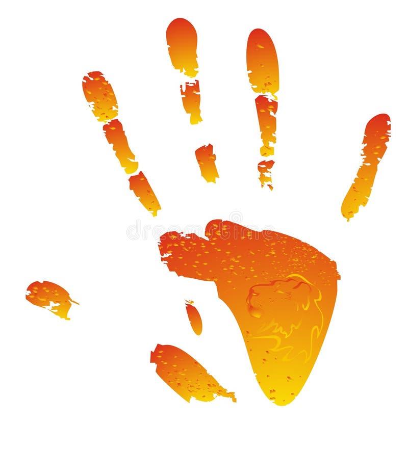 Vektorsonnige Hand stock abbildung