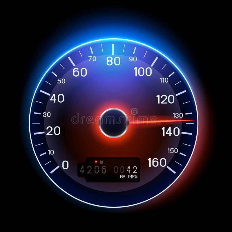 VektorSpeedometer royaltyfri illustrationer