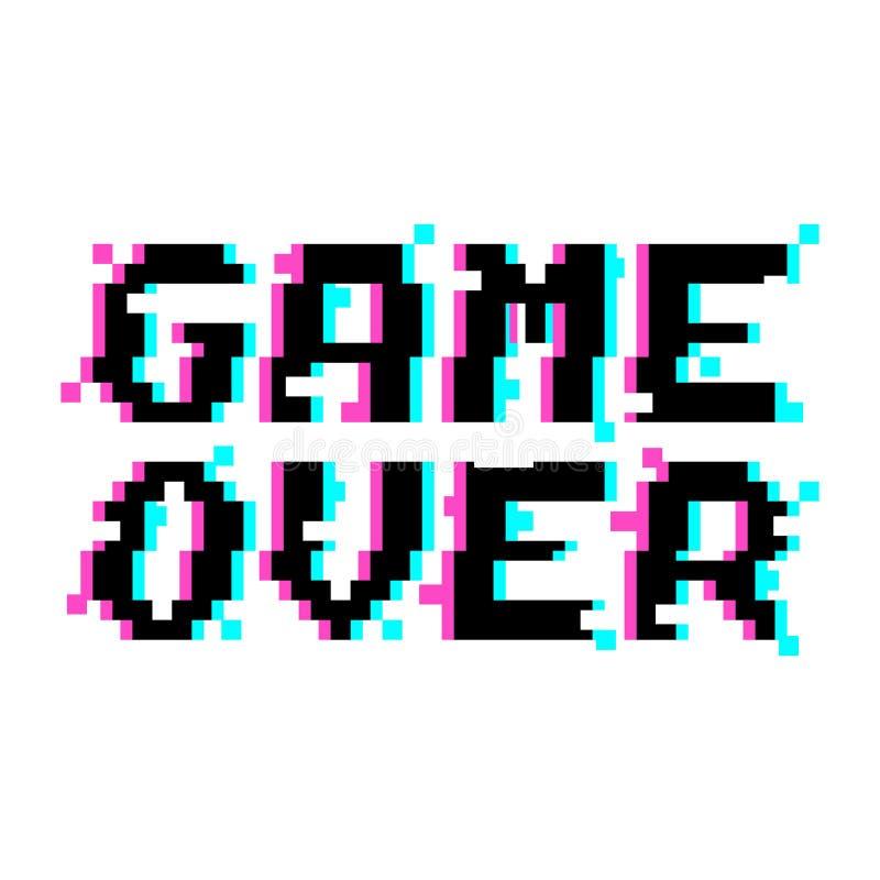 Vektorspiel über Pixelstörschub stock abbildung
