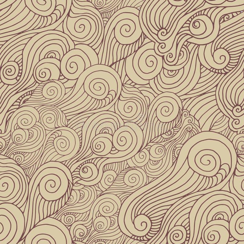 Vektorspiralmodell stock illustrationer