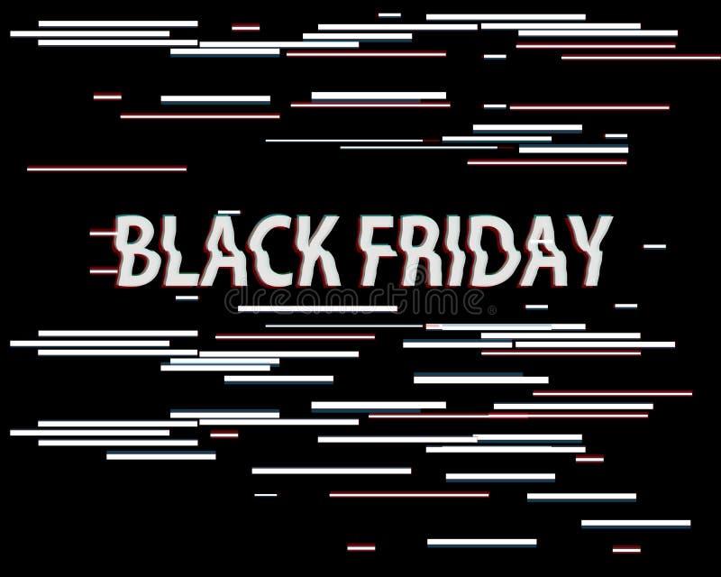 Vektorstörschub-Verkaufsillustration Kunststörschubhintergrund, schwarze Freitag-Informationen des Verkaufs Neue Sonderverkaufill vektor abbildung
