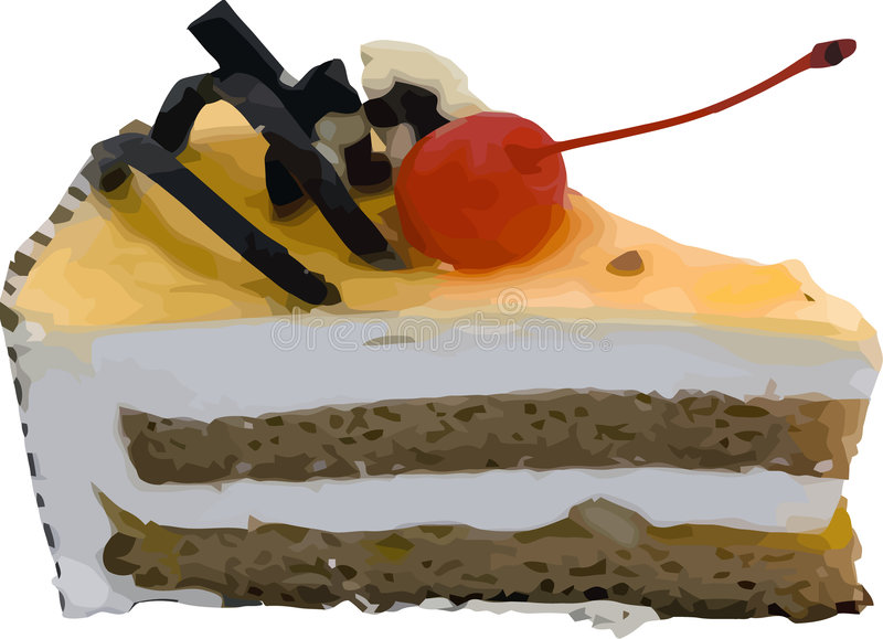 Vektorstück des Kuchens stock abbildung