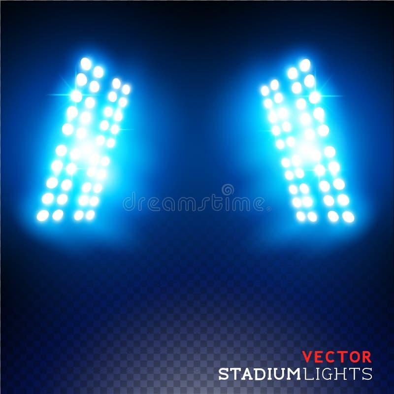 Vektorstadionflodljus stock illustrationer
