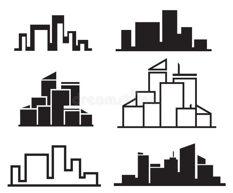 Vektorstadtgebäude stock abbildung