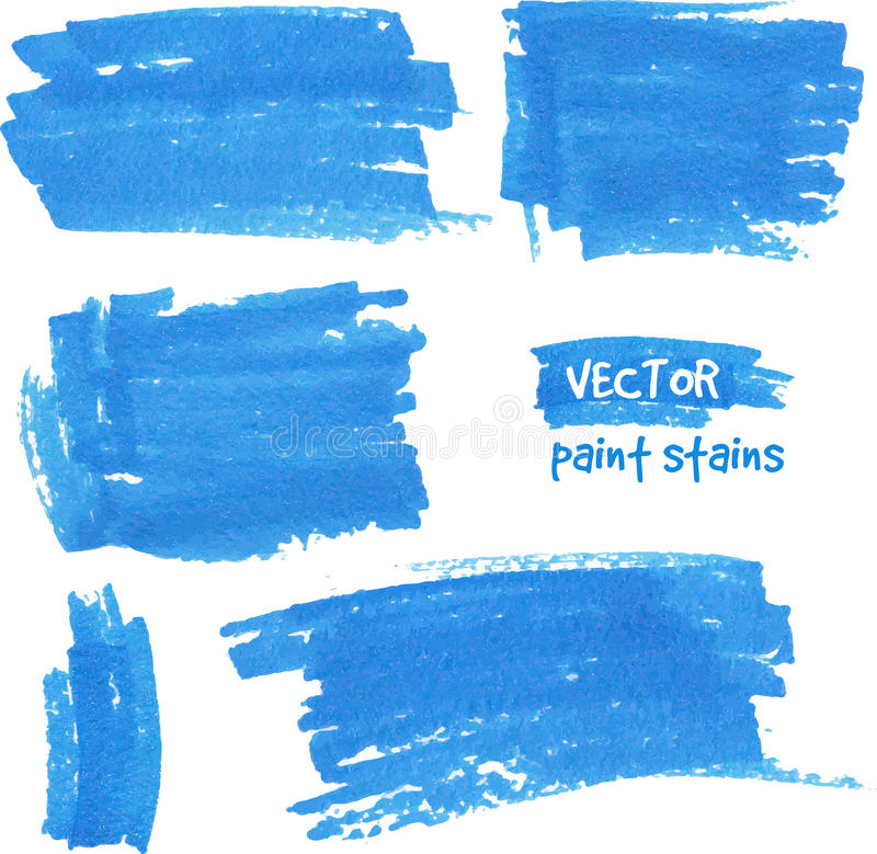 Vektorstelle der Farbe gezeichnet durch Filzstift vektor abbildung