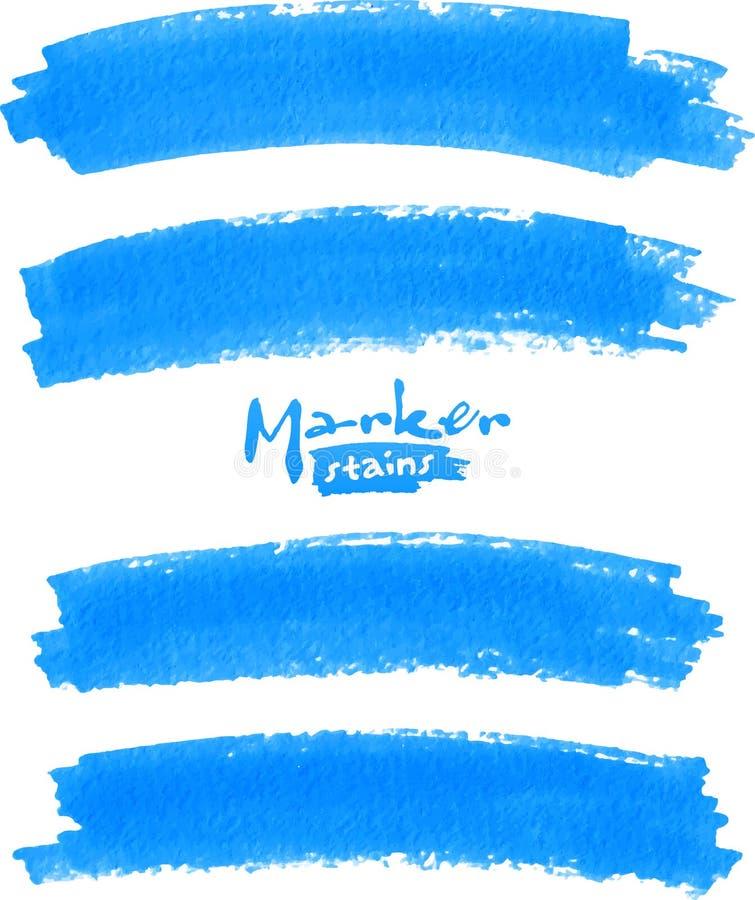 Vektorstelle der Farbe gezeichnet durch Filzstift lizenzfreie abbildung