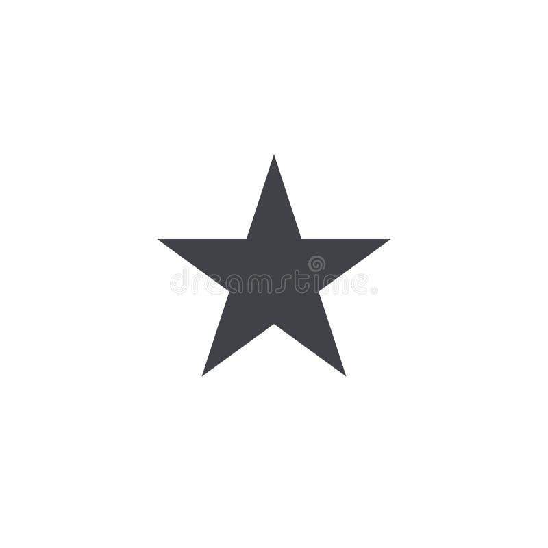 Vektorsternform Schwarze Sternikone Sternsymbol lokalisiert Element für beweglichen App oder Website des Entwurfs vektor abbildung
