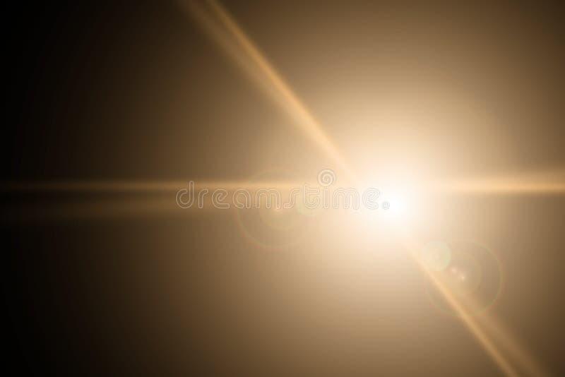 Vektorstjärna, sun med linssignalljuset Abstrakt vektorexplosion stock illustrationer