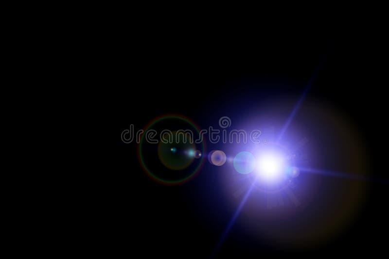 Vektorstjärna, sun med linssignalljuset Abstrakt vektorexplosion royaltyfri illustrationer