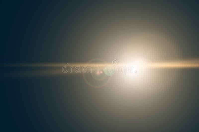 Vektorstjärna, sun med linssignalljuset Abstrakt vektorexplosion vektor illustrationer