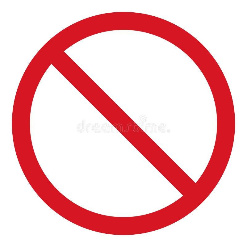 Vektorstoppsymbol, förbjuden passage, stoppteckensymbol, inget tillträdestecken på vit bakgrund, röd stopplogo, förbudtecken vektor illustrationer
