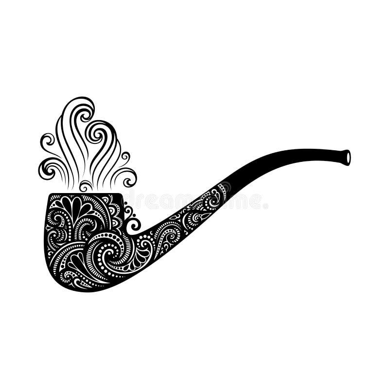 VektorSts Patrick symbol för dag, tobakrör royaltyfri illustrationer