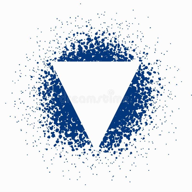 Vektorsuddighet av blåa prickar royaltyfri bild