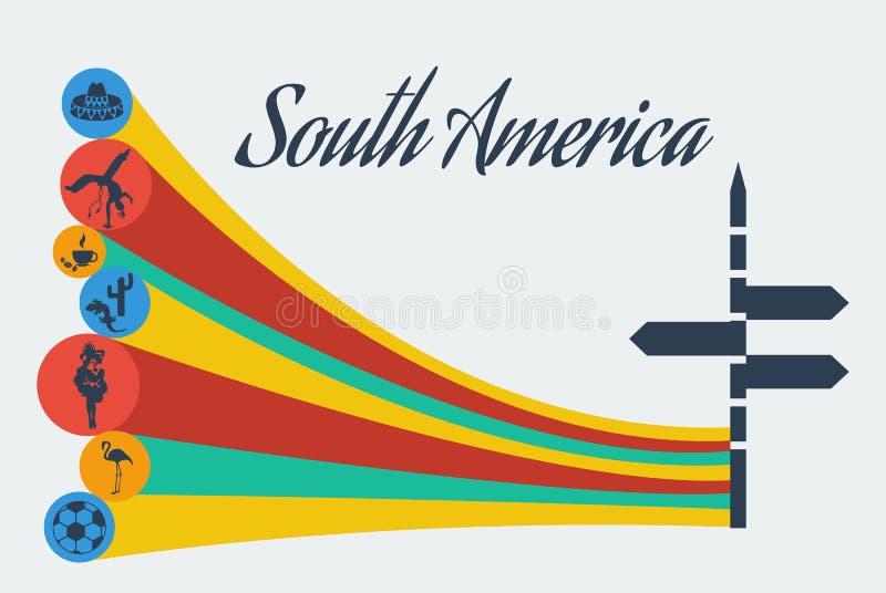 VektorSydamerika safari vektor illustrationer
