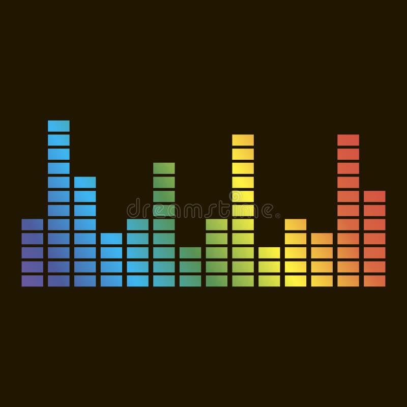 Vektorsymbol av den musikaliska utjämnaren En musikalisk solid våg Vektor ic vektor illustrationer