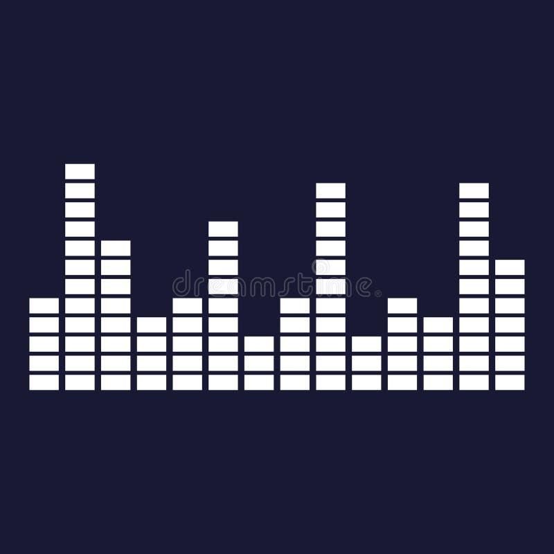 Vektorsymbol av den musikaliska utjämnaren En musikalisk solid våg Vektorwh vektor illustrationer