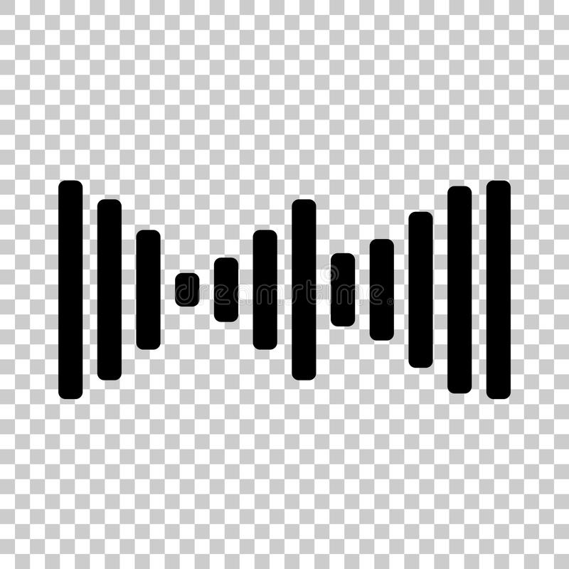 Vektorsymbol av den solida vågen, ljud vektor illustrationer