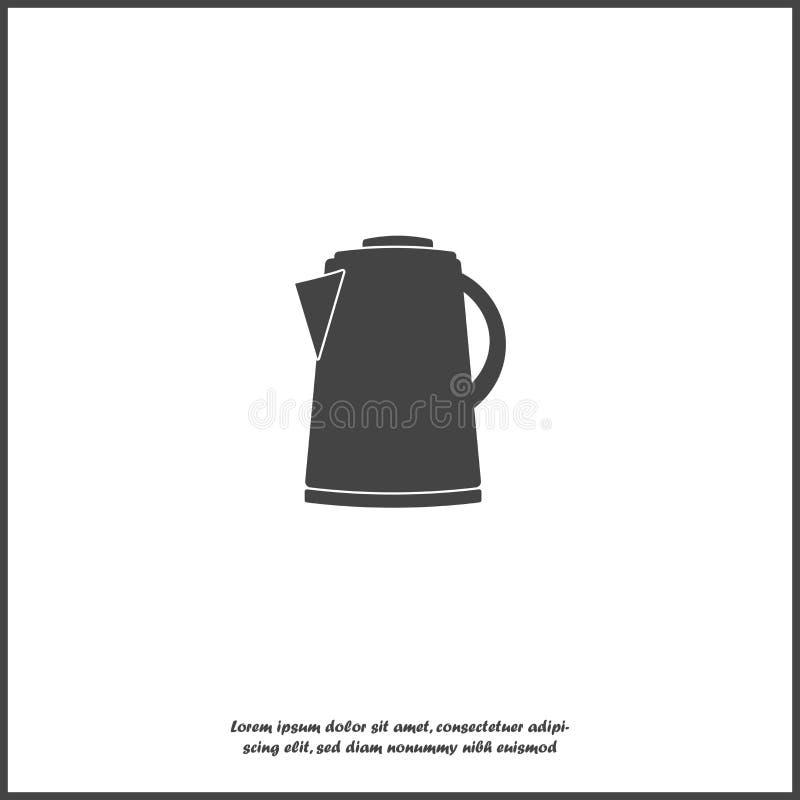 Vektorsymbol av en elektrisk kokkärl på vit isolerad bakgrund Lager som grupperas för lätt redigerande illustration vektor illustrationer