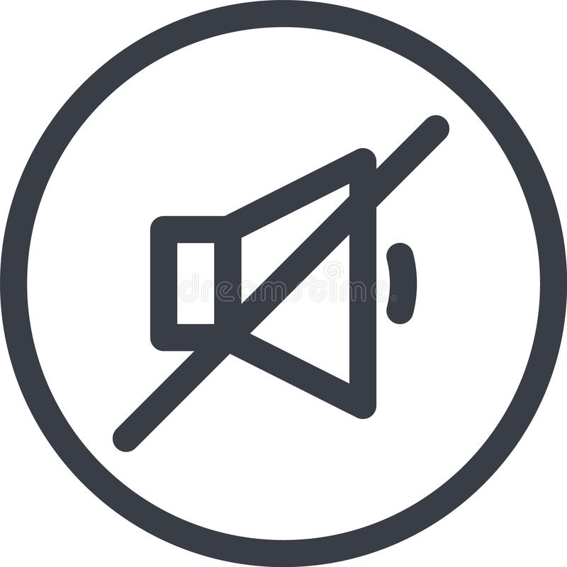 Vektorsymbol av ett ljud av knappen i linjen konststil Perfekt PIXEL spelare royaltyfri illustrationer