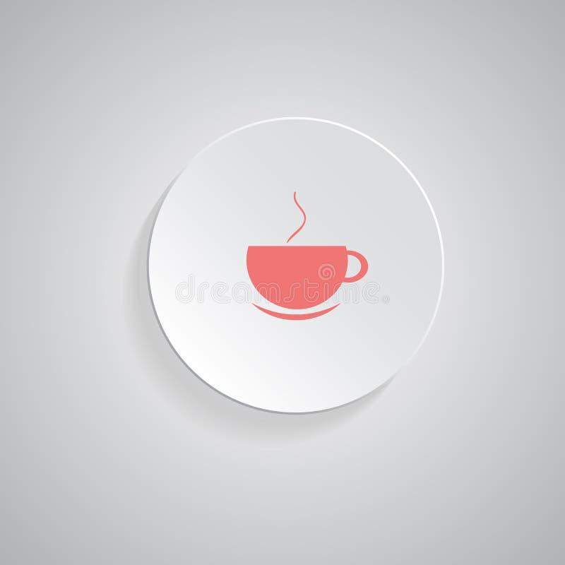 Vektorsymbol av kaffekoppen stock illustrationer