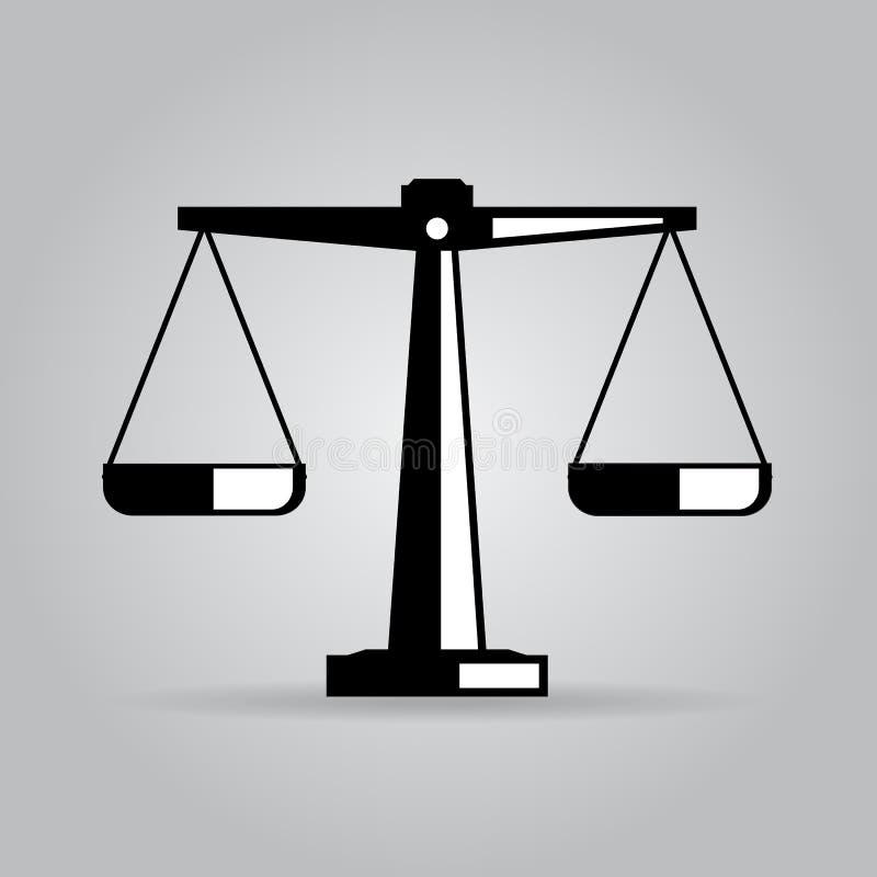 Vektorsymbol av rättvisavåg vektor illustrationer
