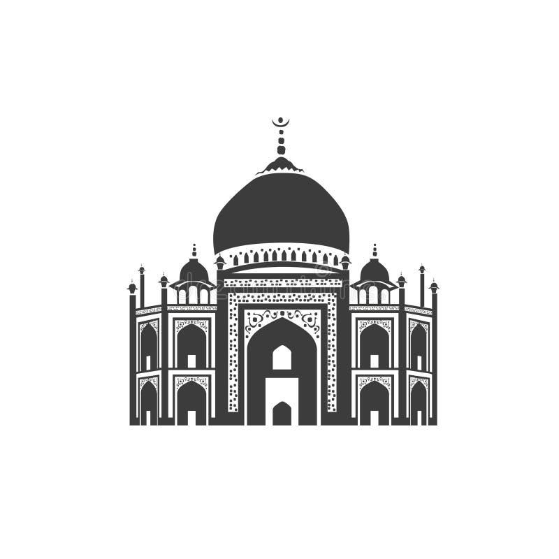 Vektorsymbol av Taj Mahal royaltyfri illustrationer