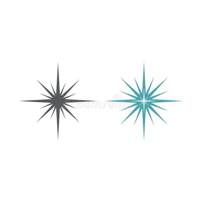 Vektorsymbol des Sternblitzes lizenzfreie abbildung